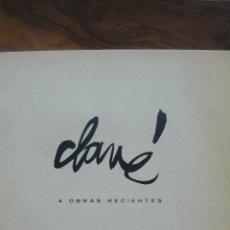 Arte - CLAVÉ. 4 OBRAS RECIENTES. SALA GASPAR. 1961. - 52384540