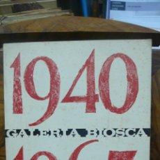 Arte: EXPOSICIÓN ANTONIO CLAVÉ. GALERIA BIOSCA. 1965. . Lote 52385892