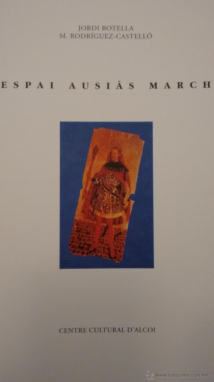 ESPAI AUSIÀS MARCH. CENTRE CULTURAL D´ALCOI (Arte - Catálogos)