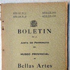 Arte: BOLETÍN DE LA JUNTA DE PATRONATO DEL MUSEO DE BELLAS ARTES DE MURCIA. AÑO XI Y XII NÚM 11 Y 12. Lote 53069241