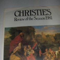 Arte: CHRYSTIES, REVIEW OF THE SEASON 1981. LIBRERIA MARTINEZ PEREZ, BARCELONA.. Lote 53324117