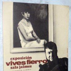 Arte: DÍPTICO EXPOSICIÓN ANTONI VIVES FIERRO. 1967. Lote 53844782