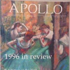 Arte: REVISTA APOLLO. THE INTERNATIONAL MAGAZINE OF THE ARTS. DECEMBER 1996. Lote 54173567