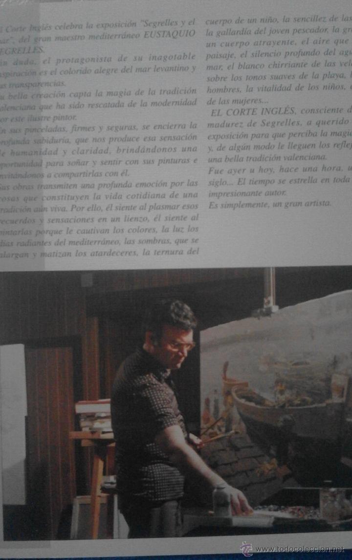 Arte: EUSTAQUIO SEGRELLES. CATALOGO DE EXPOSICION EL EL CORTE INGLÉS CASTELLANA. FIRMADO Y DEDICADO. - Foto 6 - 54859203