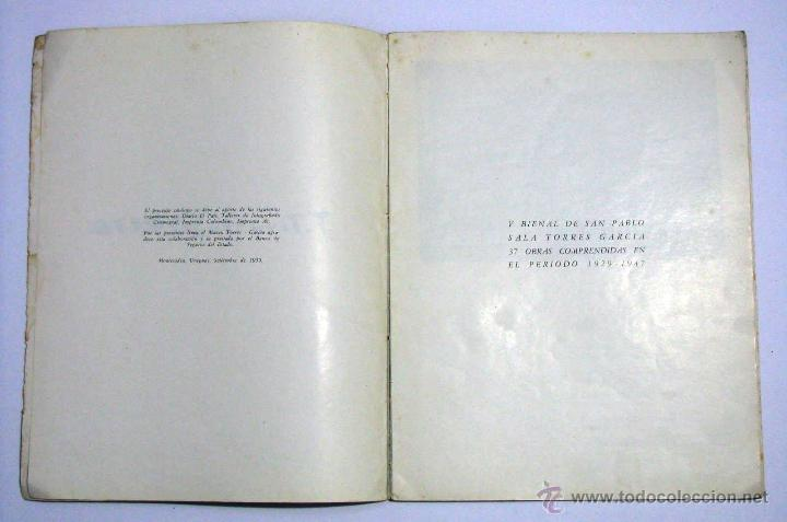 Arte: Antiguo Catalogo Arte Pintura Uruguay V Bienal San Pablo Joaquin Torres Garcia Año 1959 - Foto 5 - 54948329
