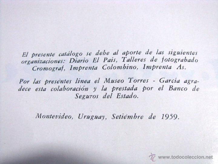 Arte: Antiguo Catalogo Arte Pintura Uruguay V Bienal San Pablo Joaquin Torres Garcia Año 1959 - Foto 6 - 54948329