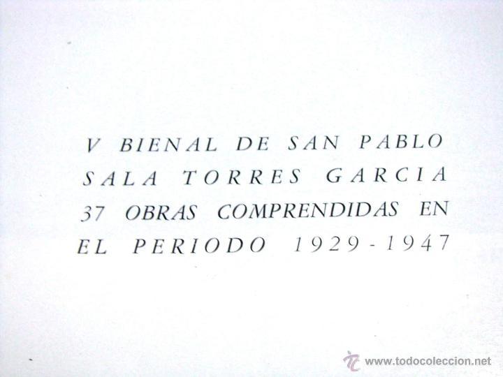 Arte: Antiguo Catalogo Arte Pintura Uruguay V Bienal San Pablo Joaquin Torres Garcia Año 1959 - Foto 7 - 54948329