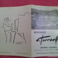 Arte: EXPOSICIÓN DE PINTURA. E. TORROELLA 1976. Lote 55124884