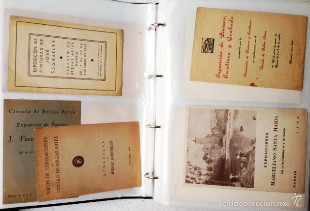ARCHIVO DE LOS INICIOS DEL GALERISMO EN ESPAÑA. (1920-1950) (MÁS DE UN CENTENAR DE CATÁLOGOS... (Arte - Catálogos)