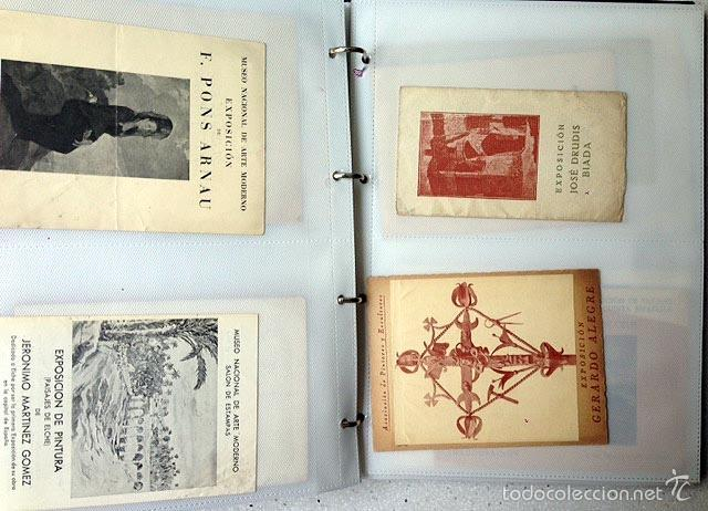 Arte: Archivo de los inicios del galerismo en España. (1920-1950) (Más de un centenar de catálogos... - Foto 3 - 55388758