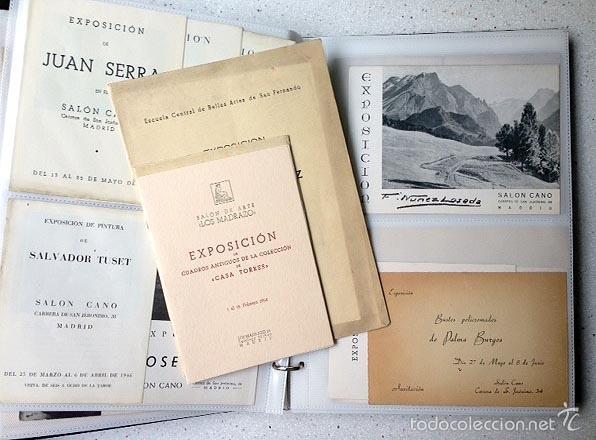 Arte: Archivo de los inicios del galerismo en España. (1920-1950) (Más de un centenar de catálogos... - Foto 4 - 55388758