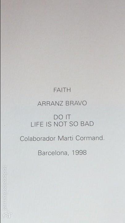 Arte: excepcional catalogo arranz bravo . faith colaborador marti cormand . barcelona 1998 . 40 pag - Foto 2 - 56129220
