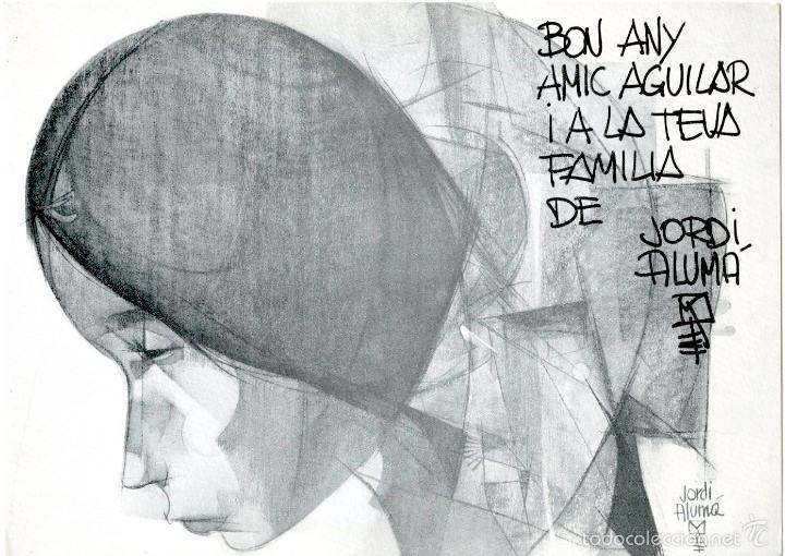 CATÁLOGO, CON DEDICATORIA AUTÓGRAFA, DE EXPOSICIÓN EN GINEBRA DEL PINTOR JORDI ALUMÁ, 1966 (Arte - Catálogos)