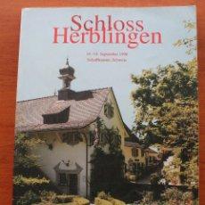 Arte: CATALOGO SUBASTAS ARTE CRHISTIE´S SCHLOSS HERBLINGEN CASTILLO HIERBAS LINGEN - ILUSTRACIONES. Lote 56395634