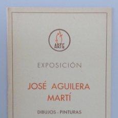 Arte: INVITACIÓN // CATÁLOGO EXPOSICIÓN // JOSÉ AGUILERA MARTÍ // 1942 // SALA ARTE // BARCELONA. Lote 56646858