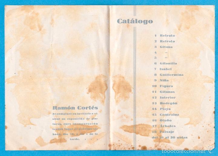 Arte: RAMÓN CORTÉS. PINTURAS. SALA BUSQUETS. DÍPTICO-CATÁLOGO. BARCELONA, 1943 - Foto 2 - 56695312