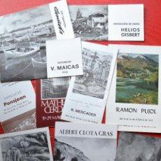 Arte: LOTE DE 10 FOLLETOS DIPTICOS Y TRIPTICOS - CATALOGOS ARTE AÑOS 70 Y 80. Lote 57117664