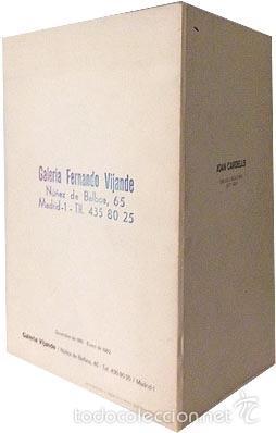 Arte: Catálogo Joan Cardells. (1982) Galería Fernando Vijande, Madrid. Texto de Tomas Llorens - Foto 2 - 58525304
