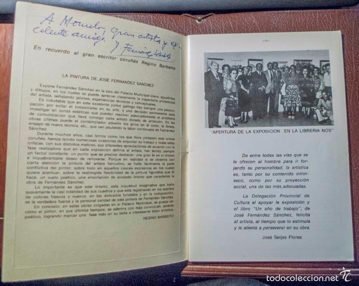 J. FERNÁNDEZ SÁNCHEZ UN AÑO DE TRABAJO CON DEDICATORIA DEL PINTOR 1979 (Arte - Catálogos)