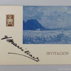 Arte: INVITACIÓN // CATÁLOGO EXPOSICIÓN // 1943 // EXPOSICIÓN PINTURAS // GALERÍAS AUGUSTA // BARCELONA. Lote 57771956