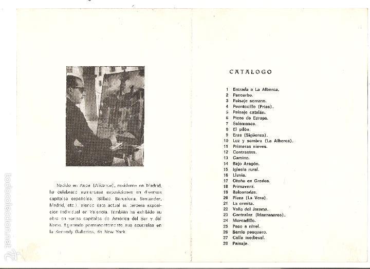 Arte: folleto de exposición de arte - artista pastor calpena - galerías san vicente, abril de 1967 - Foto 2 - 57929878