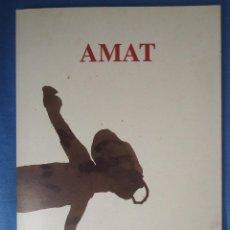Arte: FREDERIC AMAT (BARCELONA 1952) SALA ROBAYERA . 34 PP.. Lote 52596795