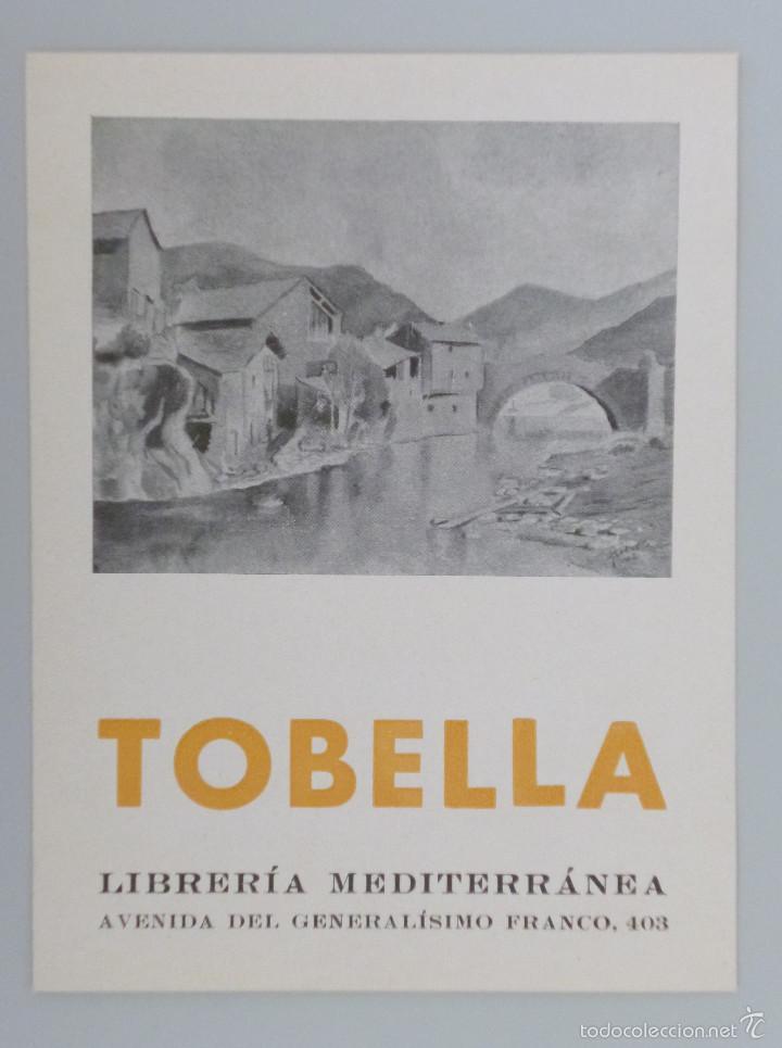 INVITACIÓN CATÁLOGO EXPOSICIÓN // TOBELLA // LIBRERÍA MEDITERRANEA // 1942 (Arte - Catálogos)