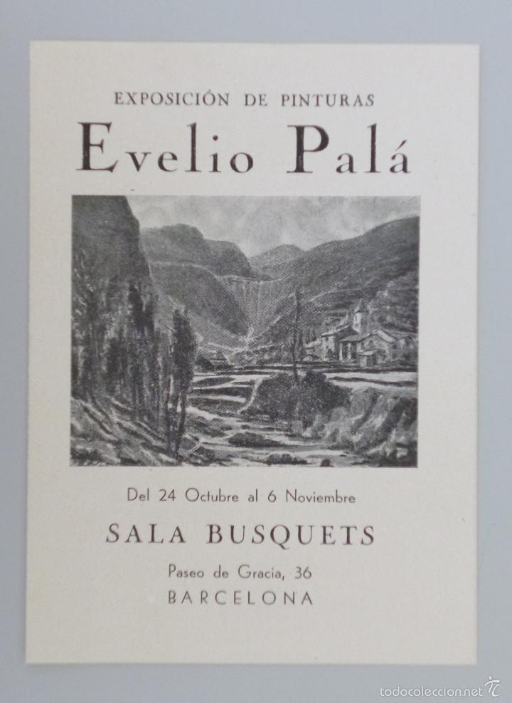INVITACIÓN // CATÁLOGO EXPOSICIÓN // EVELIO PALÁ // PINTURAS // SALA BUSQUETS //AÑOS 40 // BARCELONA (Arte - Catálogos)