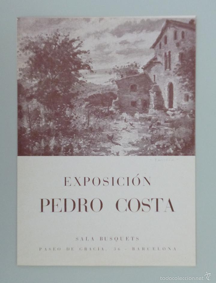 INVITACIÓN // CATÁLOGO EXPOSICIÓN // PEDRO COSTA // SALA BUSQUETS // 1943 // BARCELONA (Arte - Catálogos)
