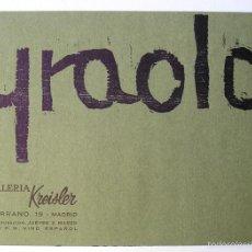 Arte: IGNACIO YRAOLA - GALERÍA KREISLER 1967 - TRÍPTICO. Lote 60371755