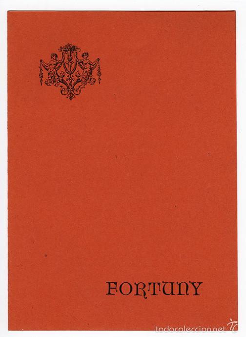MARIANO FORTUNY – DÍPTICO DE LA GALERÍA EDURNE, MADRID, 1965 (Arte - Catálogos)