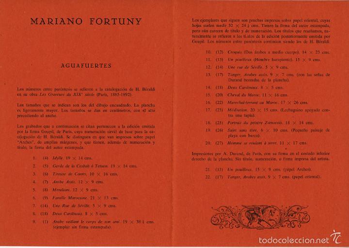 Arte: Mariano Fortuny – díptico de la Galería Edurne, Madrid, 1965 - Foto 2 - 60372923
