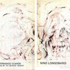 Arte: NINO LONGOBARDI. (GALERÍA FERNANDO VIJANDE) (TRANSVANGUARDIA). BONITO OLIVA. CATÁLOGO. Lote 61623628