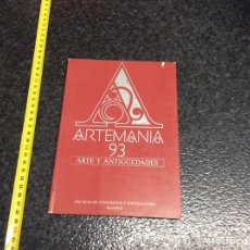 Arte: ARTEMANIA 93 - ARTE Y ANTIGÜEDADES - CATALOGO ARTE. Lote 70191485
