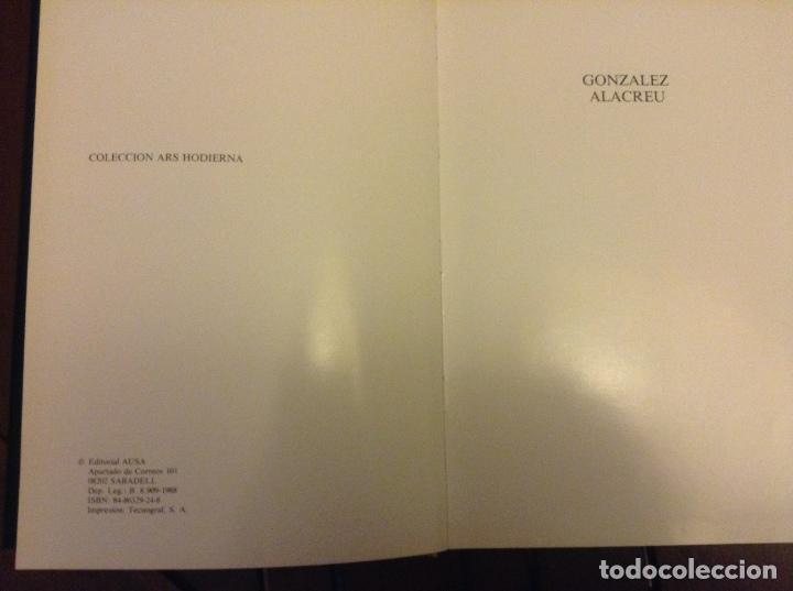 Arte: Libro del pintor Juan González Alacreu. Perfecto estado. - Foto 2 - 71684667