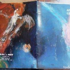 Arte: CATÀLEG ADOLF GENOVART PINTURES 1987-88 DAU AL SET + INVITACIÓ EXPOSICIÓ IMPECABLE CATÁLOGO. Lote 73061307