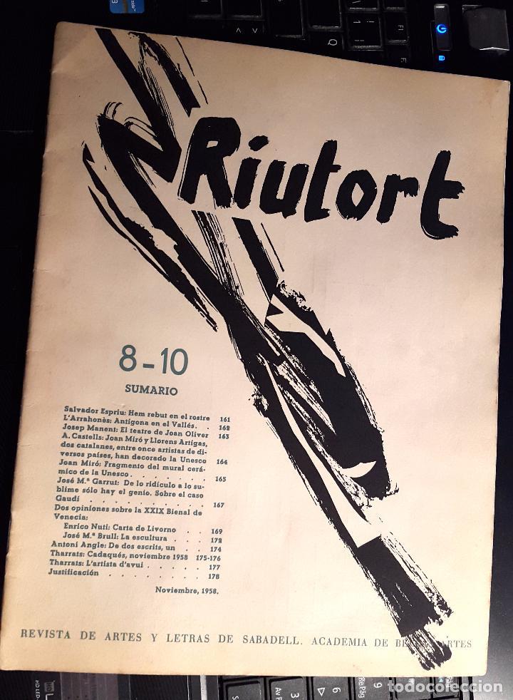 Arte: RIUTORT - Nº 8 -10 - 1958 - MACULADURA THARRATS - SERIGRAFIA DE MIRÓ - Foto 2 - 74748095
