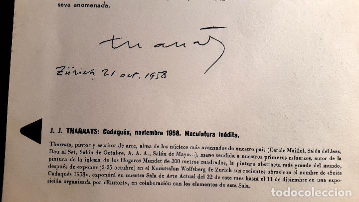 Arte: RIUTORT - Nº 8 -10 - 1958 - MACULADURA THARRATS - SERIGRAFIA DE MIRÓ - Foto 4 - 74748095