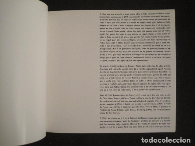 Arte: POEMS FROM CATALAN BROSSA- TAPIES - GALERIA D´ART DAU AL SET - VER FOTOS -(V-9043) - Foto 3 - 76169339