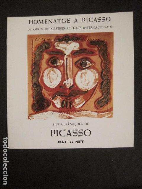 HOMENATGE A PICASSO - GALERIA D´ART DAU AL SET - VER FOTOS -(V-9044) (Arte - Catálogos)