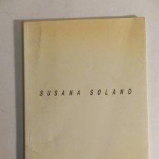 Arte: SUSANA SOLANO CATÁLOGO HIDROTERÀPIA. GALERÍA JOAN PRATS Y ARTGRÀFIC. BARCELONA, ABRIL 1991 ESCULTURA. Lote 76208571