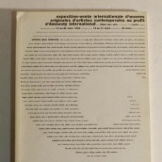 EXPOSITION-VENTE INTERNATIONALE D'OEUVRES .- AMNESTY INTERNATIONAL, 1992. CATALOGUE