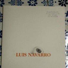 Arte: LUIS NAVARRO. GALERÍA MANUEL OJEDA. Lote 80395045