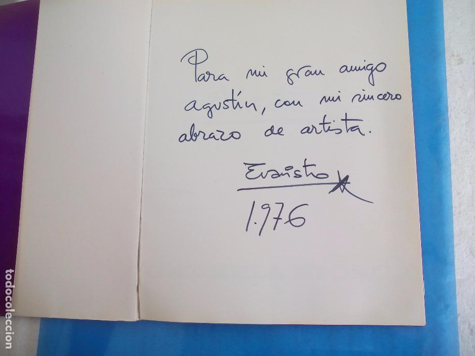 Arte: Evaristo Guerra, firmado y dedicado, catálogo exposición 1976. Galería Biosca - Foto 2 - 80721066