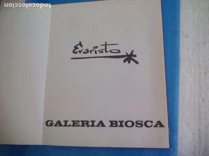 Arte: Evaristo Guerra, firmado y dedicado, catálogo exposición 1976. Galería Biosca - Foto 3 - 80721066