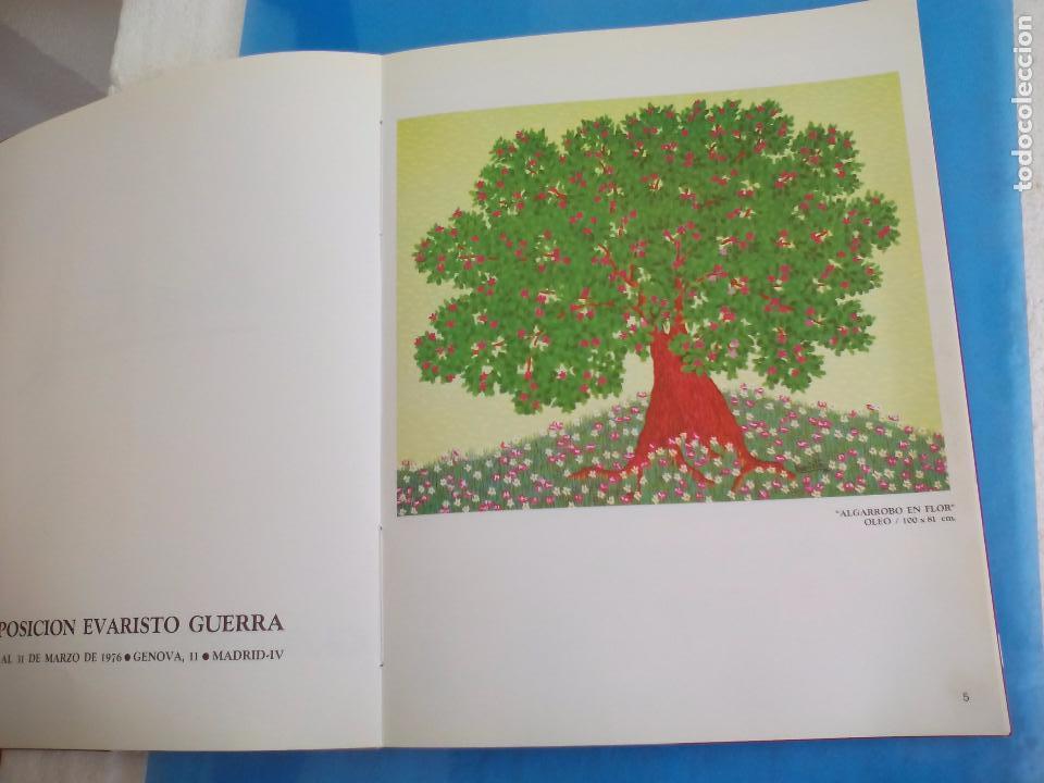 Arte: Evaristo Guerra, firmado y dedicado, catálogo exposición 1976. Galería Biosca - Foto 4 - 80721066