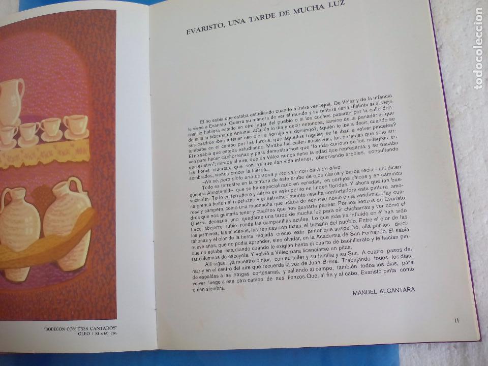 Arte: Evaristo Guerra, firmado y dedicado, catálogo exposición 1976. Galería Biosca - Foto 7 - 80721066