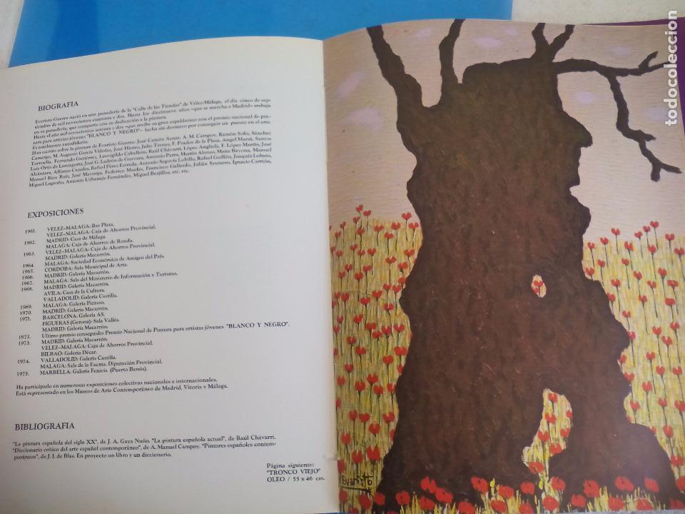Arte: Evaristo Guerra, firmado y dedicado, catálogo exposición 1976. Galería Biosca - Foto 12 - 80721066