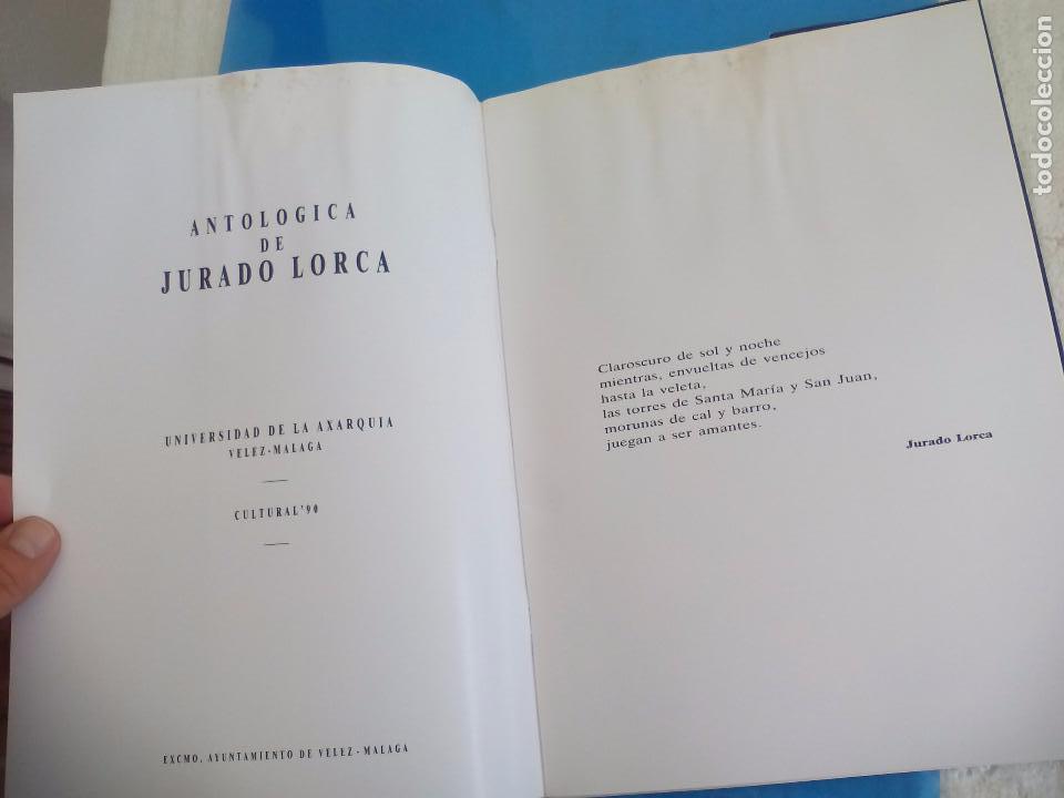 Arte: Cátalogo del pintor Jurado Lorca. Exposición Antológica. 1990. Vélez-Málaga. - Foto 2 - 80738434