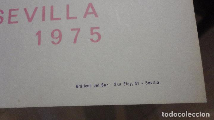 Arte: ANTIGUO CARTEL EXPOSICION.MOMPO.GALERIA JUANA AIZPURU.SEVILLA.1975 - Foto 3 - 82351864